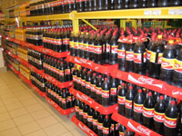 Coca-Cola 3 polcos display